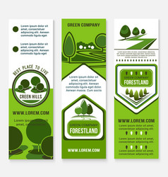 eco green business banner template with tree vector image