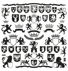HERALDRY Symbols and Decorative Elements vector image