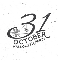 31 october Halloween party concept vector image