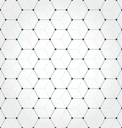 Abstract geometric hexagonal background vector