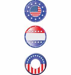 American flag symbols vector image vector image