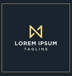 An or am monogram logo vector