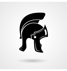 Ancient legionnaire helmet icon logo vector