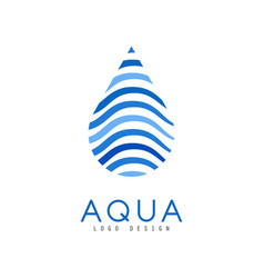 aqua logo design corporate identity template with vector image