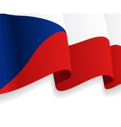 Background with waving Czech Flag vector