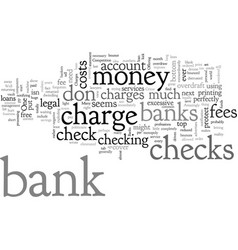 Bank charges that are a crime vector