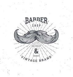 barber shop mustage vector image