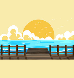 Beautiful beach background scene vector