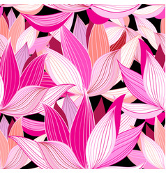 beautiful lotus flower pattern vector image