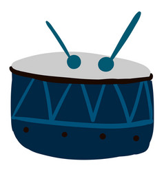 blue drum on white background vector image