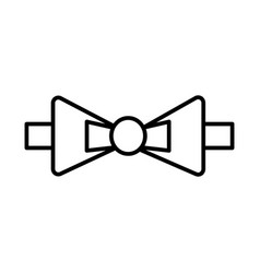 bow tie line icon sign on vector image