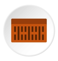 Brick icon flat style vector