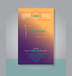 Brochure cover design abstract roll up modern vector