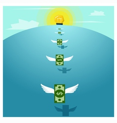 Business concept Idea Money and Investment vector image
