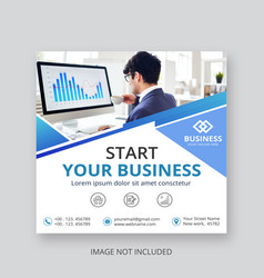 business social media post templates vector image