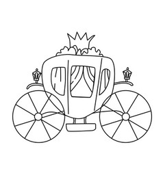 Carriage for princess isolated vector
