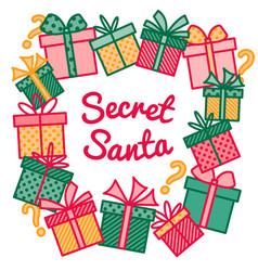 decoration for secret santa activity frame made vector image