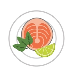 Delicious japanese food isolated icon vector