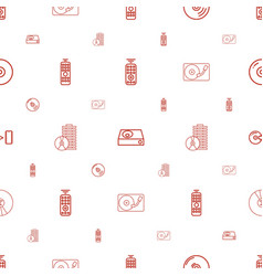 dvd icons pattern seamless white background vector image