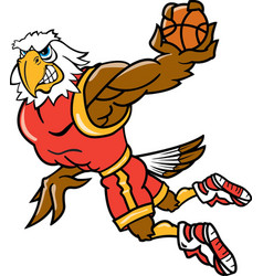 Eagle sports basketball logo mascot vector
