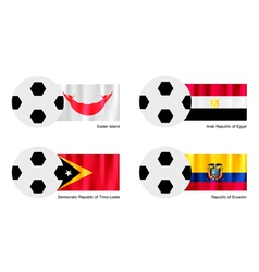 Football of Easter Island Egypt Timor Leste vector image