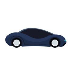 futuristic car vehicle smart autonomous side view vector image