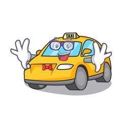 Geek taxi character cartoon style vector