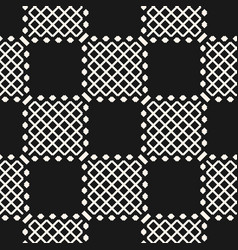 geometric black and white seamless grid pattern vector image