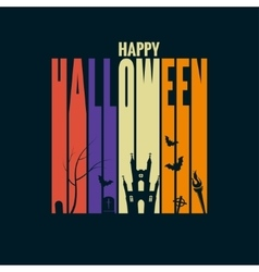 Halloween background holiday design concept vector