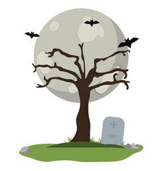 Halloween night scenery vector