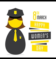 happy womens daywomen police profession design vector image