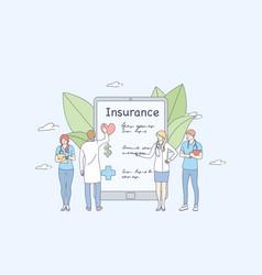 health insurance online concept vector image