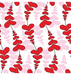 Heart wave flower seamless pattern vector