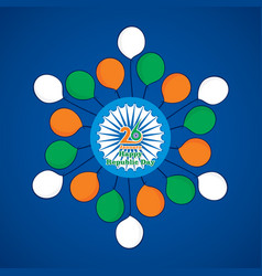 india flag color balloon vector image