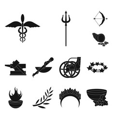 Isolated object religion and myths icon set vector