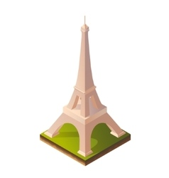 Isometric of Eiffel Tower vector image