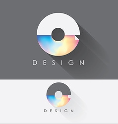 letter o colorful design element for business vector image
