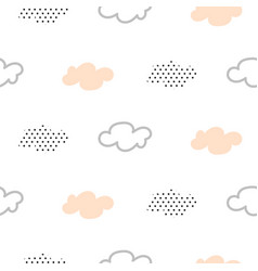 Light pink baby clouds seamless pattern vector