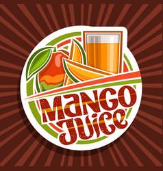 Logo for mango juice vector