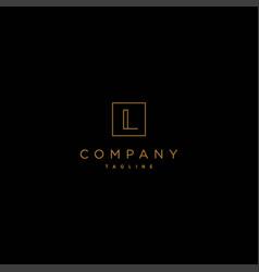 luxury and elegant design initial letter l vector image
