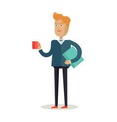 man character in flat design vector image