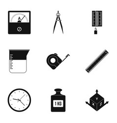 Measure instrumentation icon set simple style vector