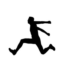 Men athlete jumper in triple jump vector
