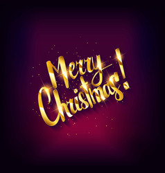 merry christmas text vector image