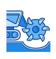 mineral excavation line icon vector image