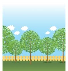 Park tree rows vector
