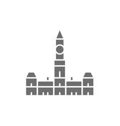 Parliament hill ottawa grey icon isolated vector