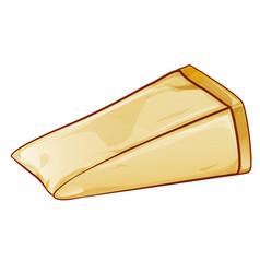 Parmesan italian cheese cartoon style vector