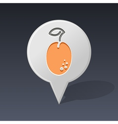 Plum pin map icon fruit vector