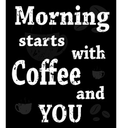 poster with words about coffee vector image